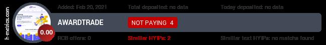 HYIPLogs.com widget for awardtrade.ltd