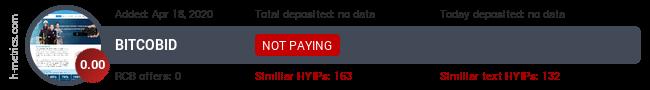 HYIPLogs.com widget for bitcobid.pw