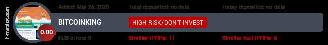 HYIPLogs.com widget for bitcoinking.pw