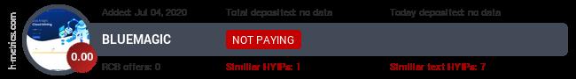 HYIPLogs.com widget for bluemagic.cloud