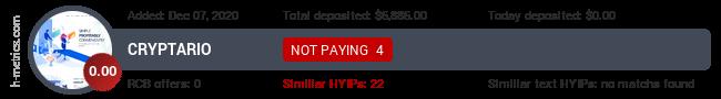 HYIPLogs.com widget for cryptario.me
