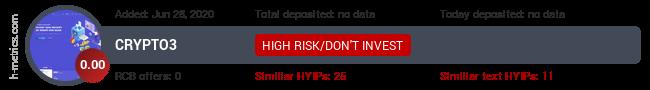 HYIPLogs.com widget for crypto3.xyz