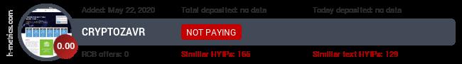 HYIPLogs.com widget for cryptozavr.pw