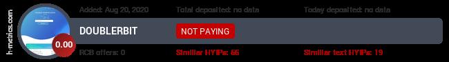 HYIPLogs.com widget for doublerbit.pw
