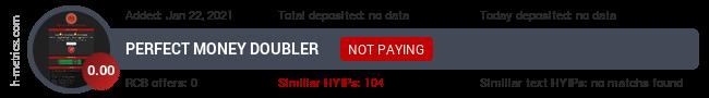 HYIPLogs.com widget for doublerpm10.fun