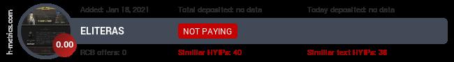 HYIPLogs.com widget for eliteras.fun