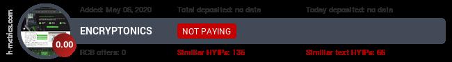 HYIPLogs.com widget for encryptonics.pw