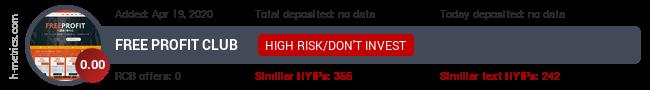 HYIPLogs.com widget for freeprofit.club