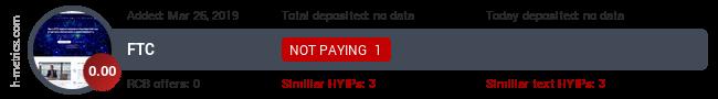 HYIPLogs.com widget for ftc.vin