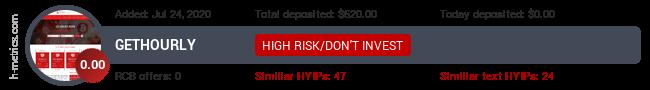 HYIPLogs.com widget for gethourly.work