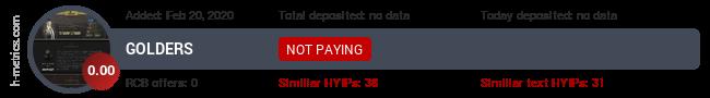 HYIPLogs.com widget for golders.pw