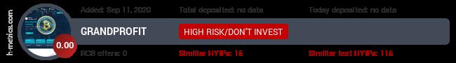 HYIPLogs.com widget for grandprofit.xyz