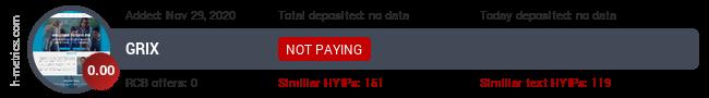 HYIPLogs.com widget for grix.pw