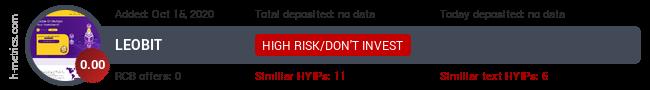 HYIPLogs.com widget for leobit.club