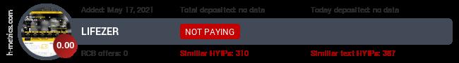 HYIPLogs.com widget for lifezer.pw