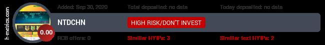 HYIPLogs.com widget for ntdchn.live