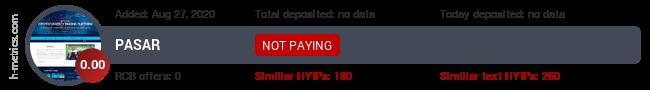HYIPLogs.com widget for pasar.buzz