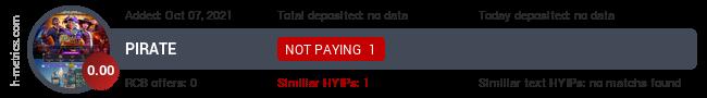 HYIPLogs.com widget for piratte.su