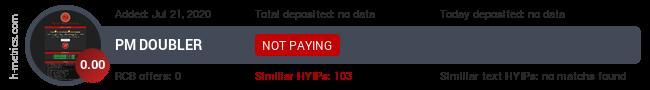 HYIPLogs.com widget for pmdoubler.club