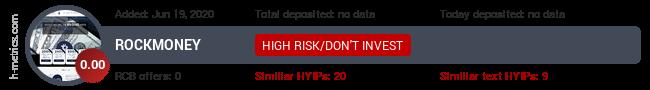 HYIPLogs.com widget for rockmoney.pw