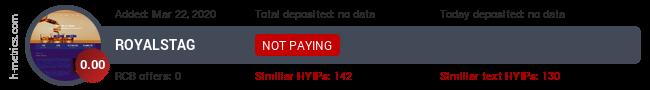 HYIPLogs.com widget for royalstag.xyz