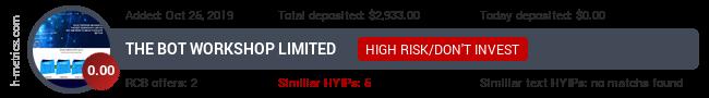 HYIPLogs.com widget for thebotworkshop.me