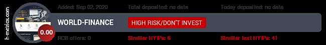 HYIPLogs.com widget for world-finance.uk