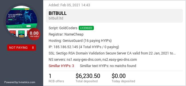 OnlineInvestments.club info about bitbull.ltd
