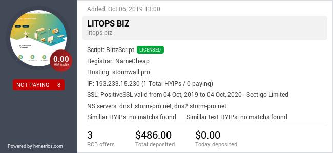 HYIPLogs.com widget for litops.biz