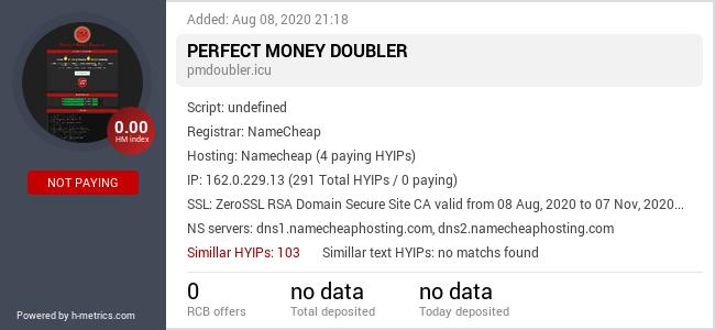 HYIPLogs.com widget for pmdoubler.icu