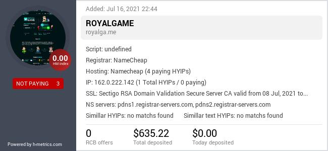 Onic.top info about royalga.me